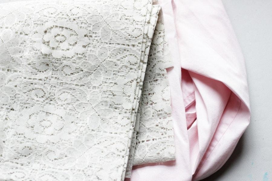 Старая блузка и кружево для её обновления