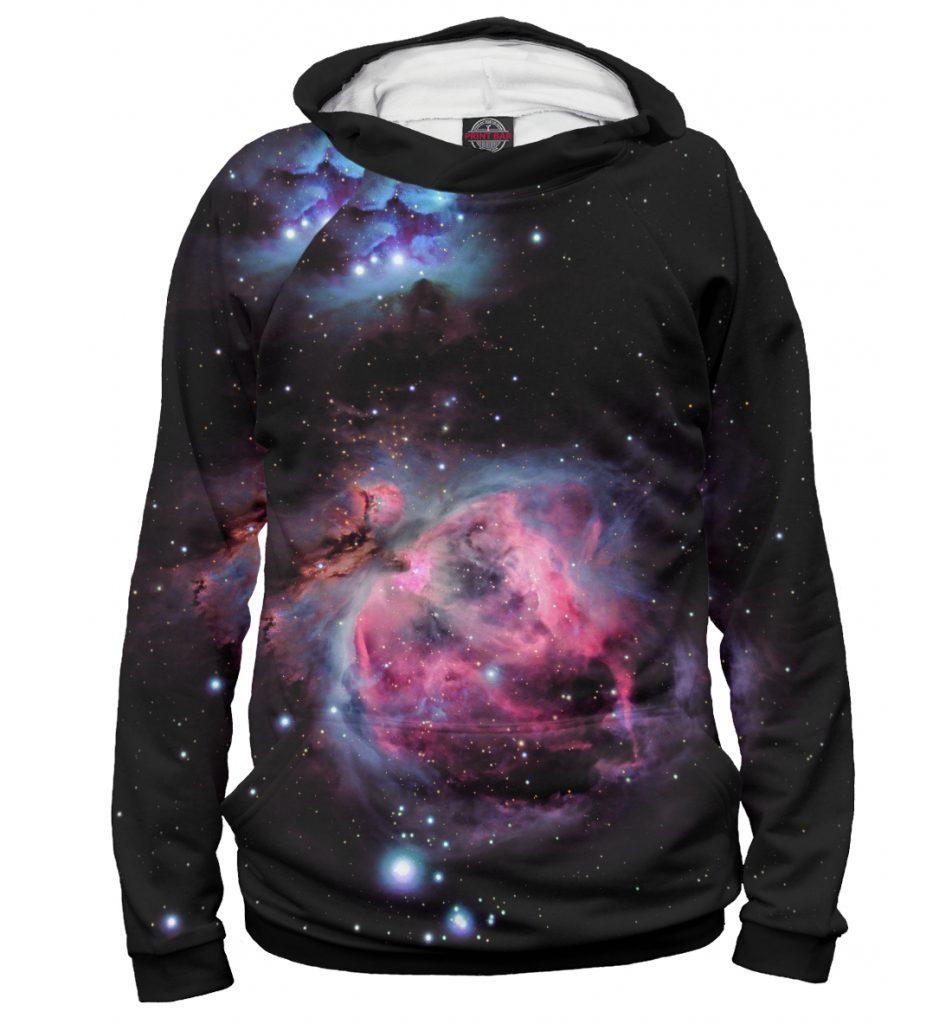 Худи с декором «космос»
