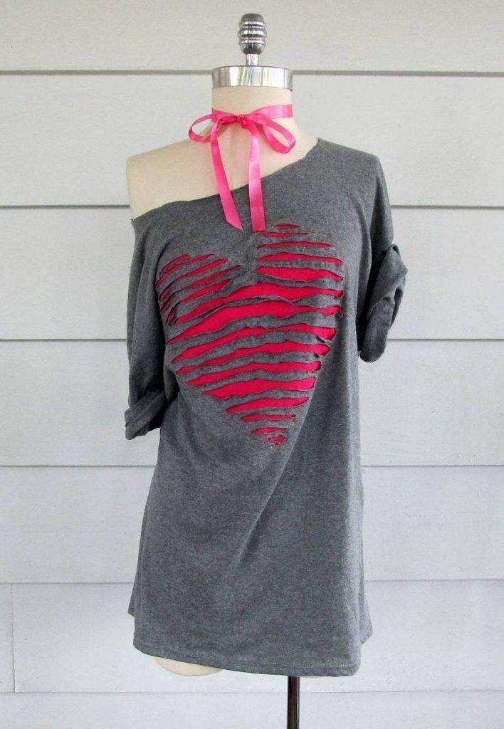 Декор старого платья новой тканью