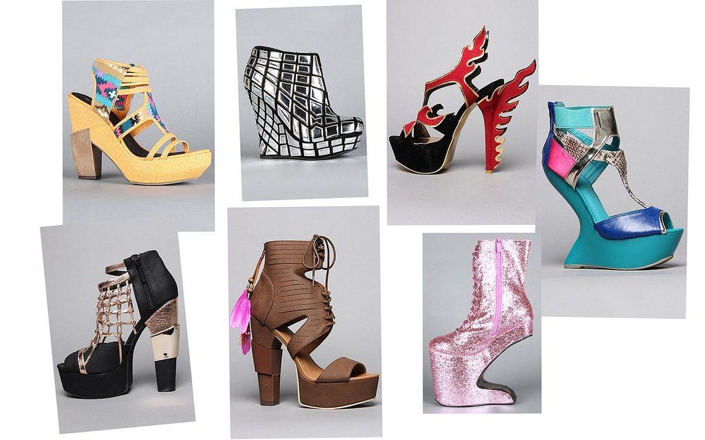 Варианты необычной обуви на высоком каблуке