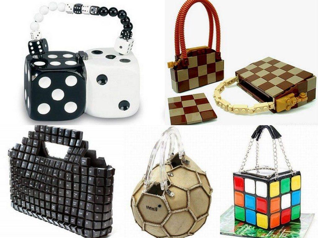 Варианты сумок игральной тематики