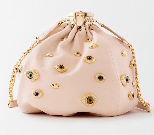 Светлая сумка с глазами