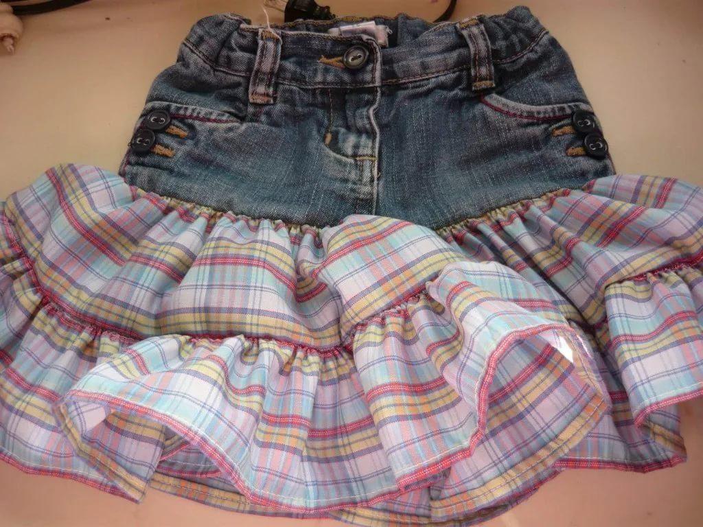 Новая жизнь для джинсовой юбки