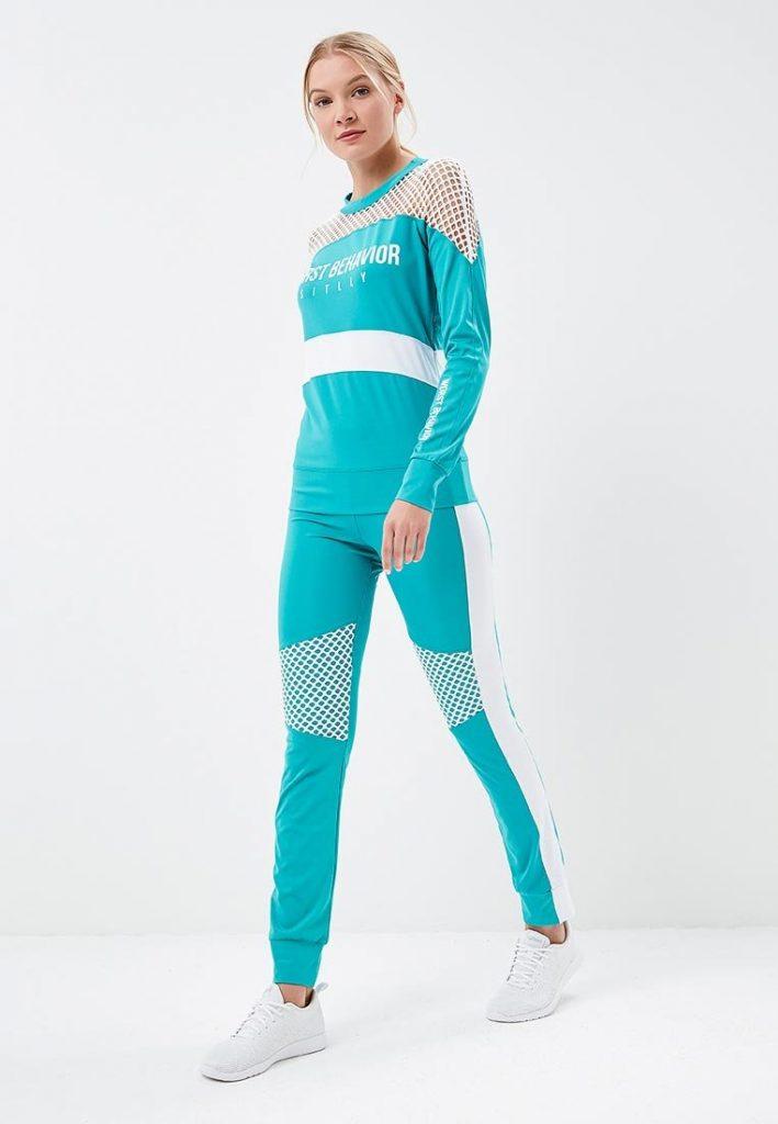 Бирюзовый спортивный костюм