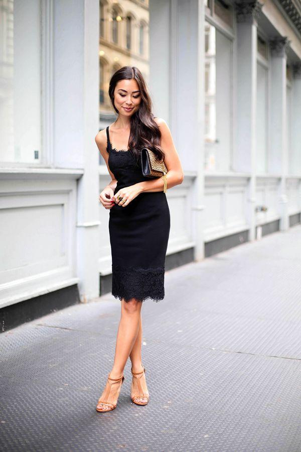Маленькое чёрное платье-комбинация