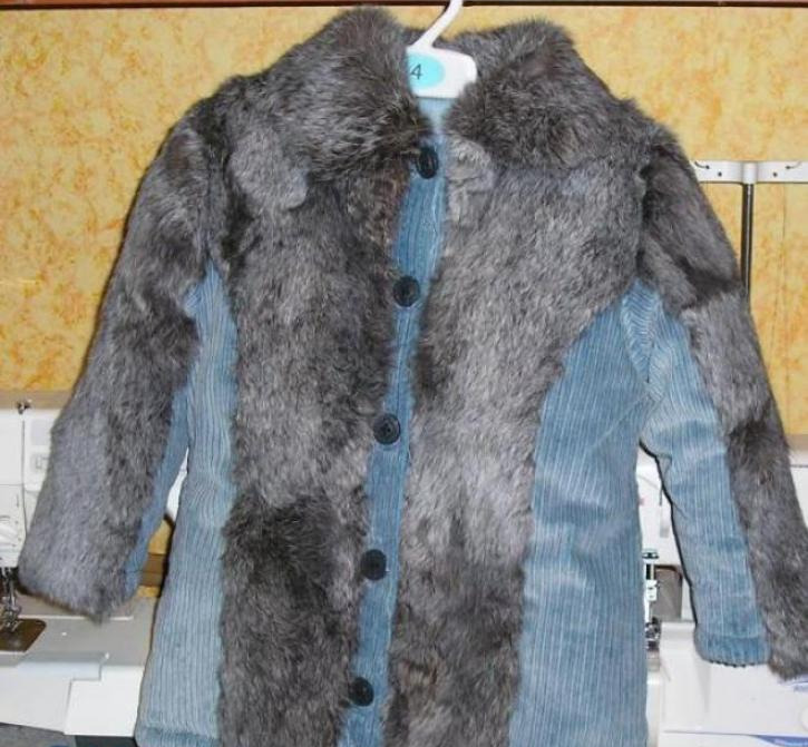 Украшение куртки мехом