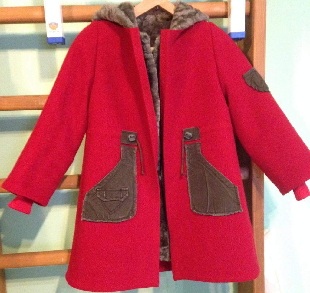 Вставки из велюровой куртки