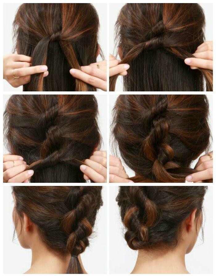 Сложная причёска для длинных волос