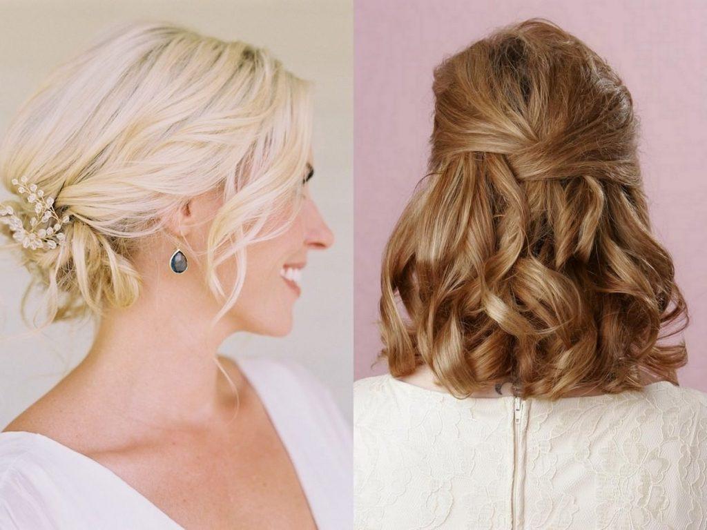 Локоны на волосах средней длины
