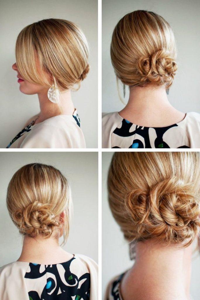 Строгая и женственная укладка волос средней длины