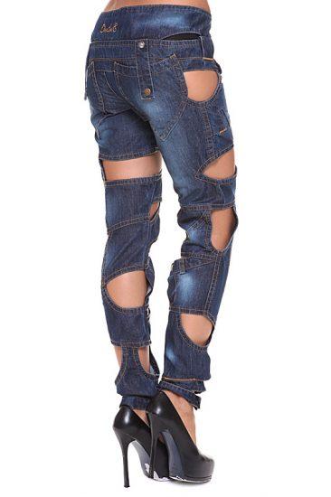 Дырявые оригинальные джинсы