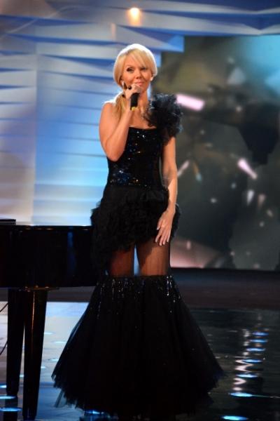Оригинальное чёрное платье певицы Валерии