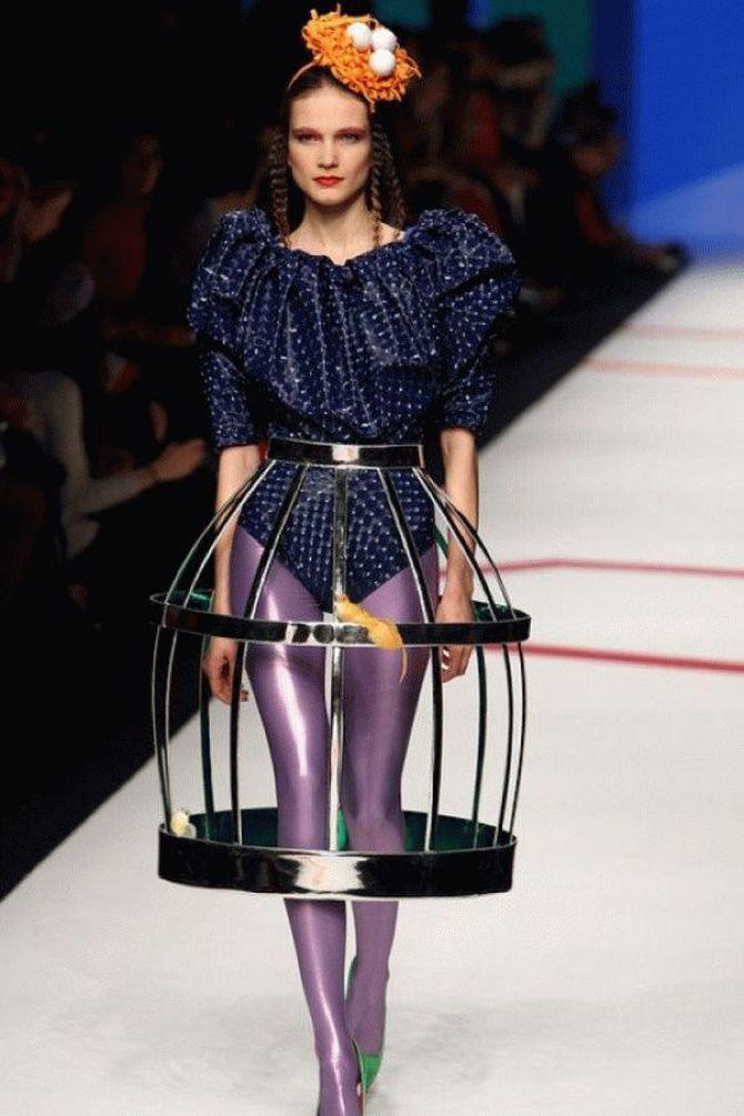 Юбка-каркас в модном наряде