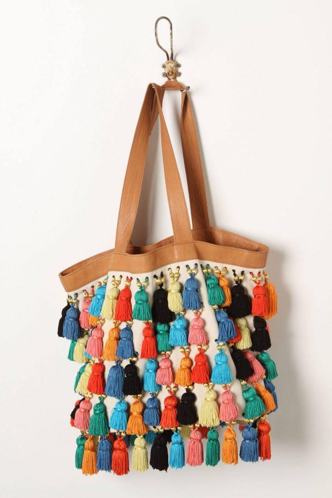 сумка с кисточками