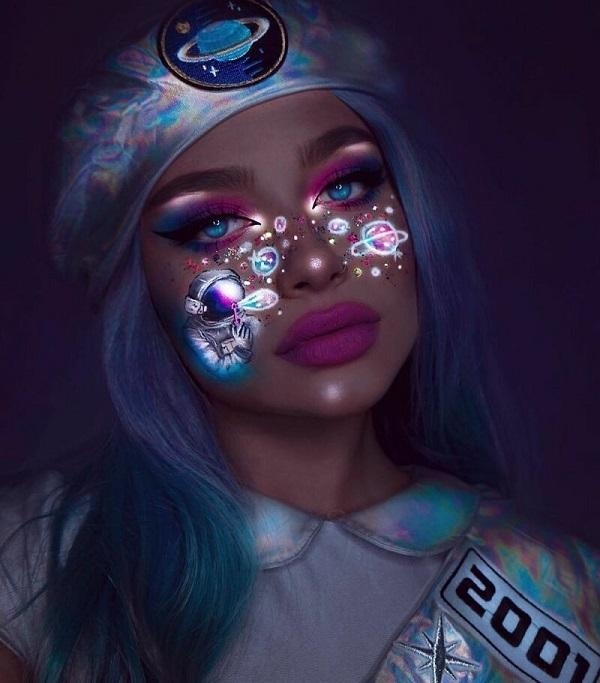 Стильный светящийся макияж