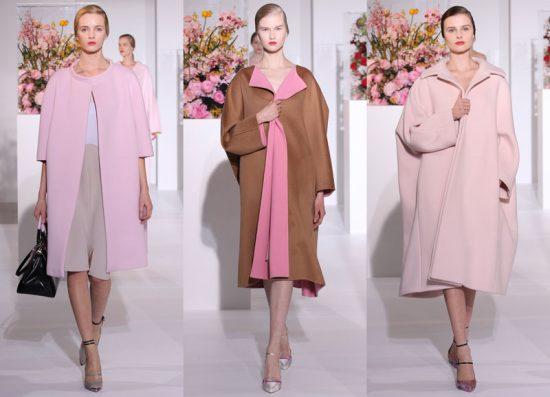 Образ в розово-коричневых тонах с пальто