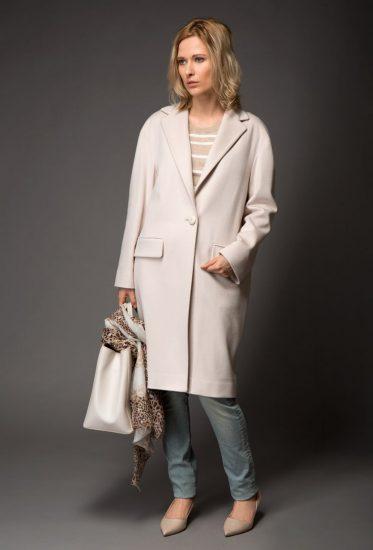 Элегантный образ с пальто-кокон