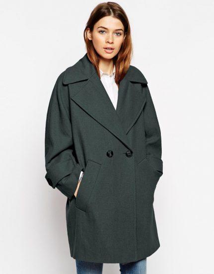 Свободное пальто-кокон