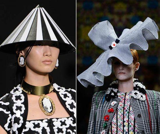 Чёрно-белые женские шляпки