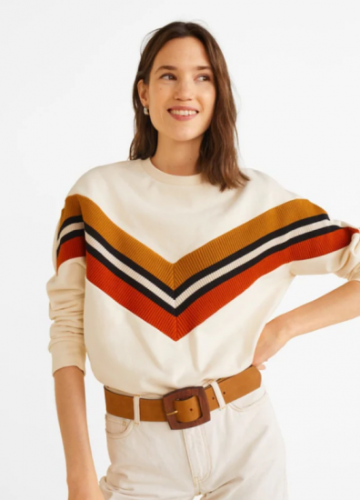 Необычный яркий свитер