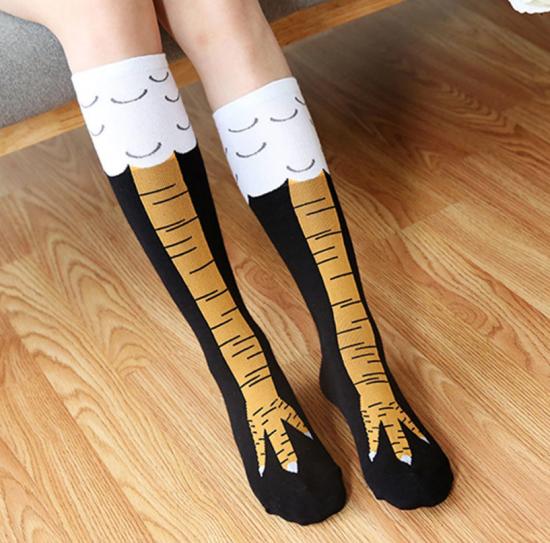 Носки с рисунком в виде куриных лап