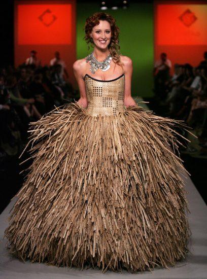 Плетёное платье