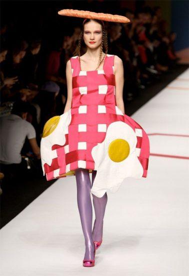 Платье с яичницей