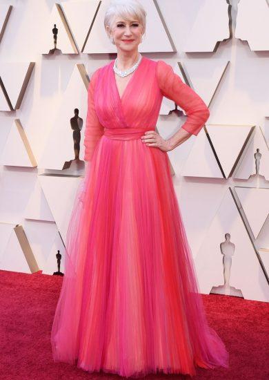 Хелен Миррен в розовом платье на церемонии вручения премии «Оскар-2019»