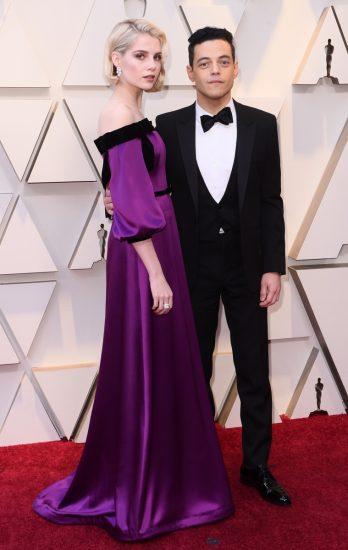 Люси Бойнтон и Рами Малек на церемонии вручения премии «Оскар-2019»