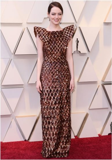 Эмма Стоун на церемонии вручения премии «Оскар» 2019