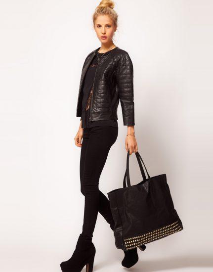 Образ с чёрной сумкой-шоппером
