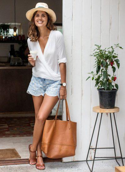 Светлая сумка-шоппер