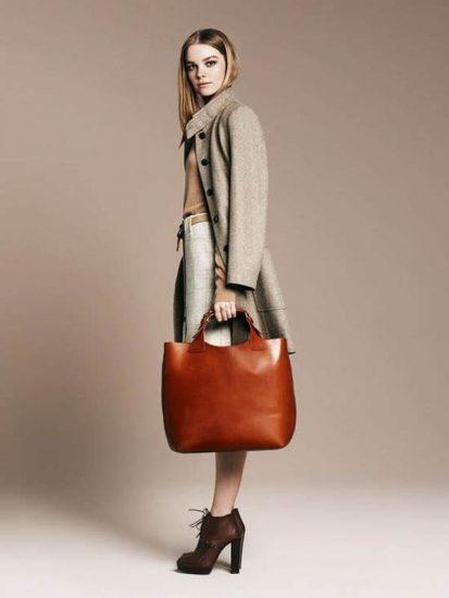 Рыжая сумка-шоппер