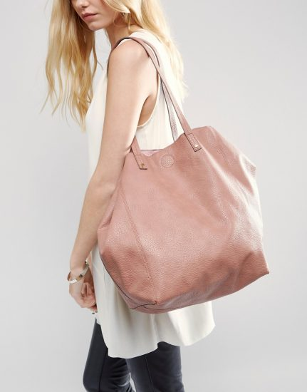 Розовая сумка-шоппер