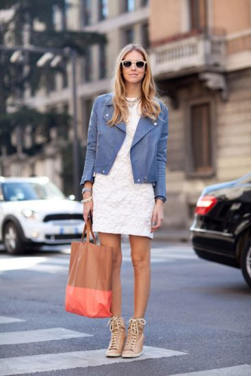 Сумка-шоппер в образе с платьем
