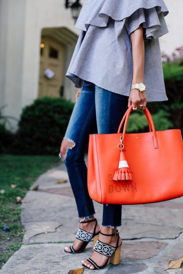 Яркая сумка-шоппер