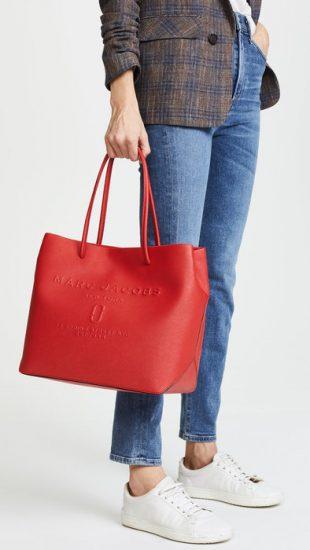 Красная сумка-шоппер