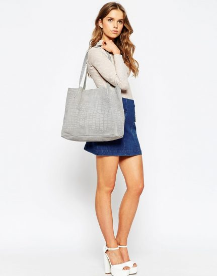 Серая сумка-шоппер