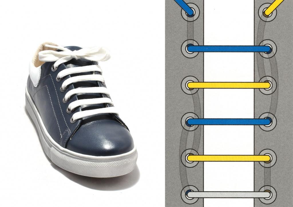 Красиво завязать шнурки в картинках ближе