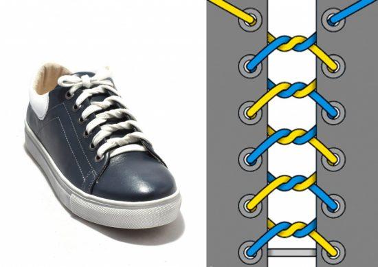 Необычный способ завязать шнурки