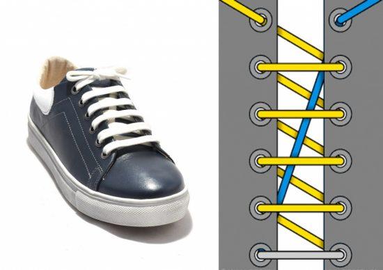 Эффектная схема завязывания шнурков