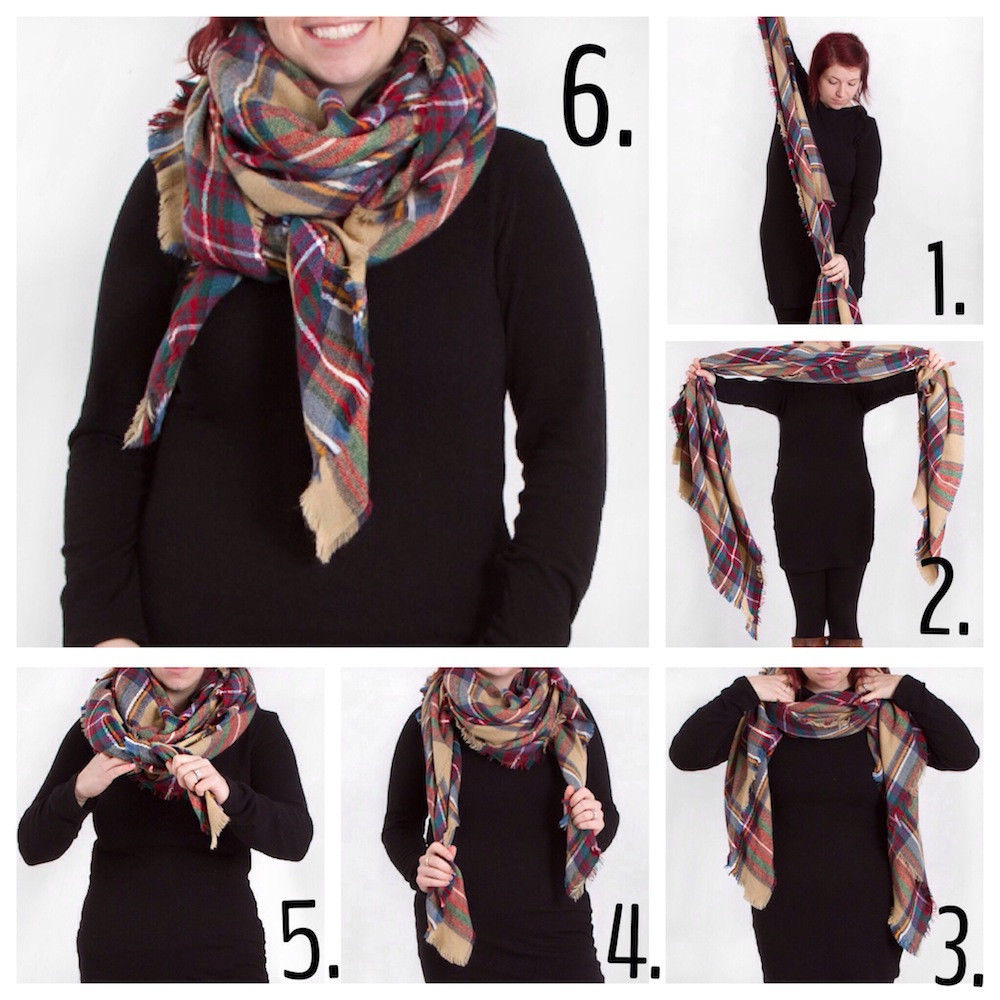Как завязать шарф под куртку фото