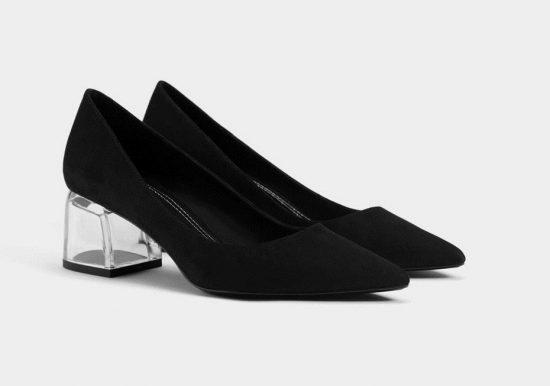 Туфли с прозрачными каблуками