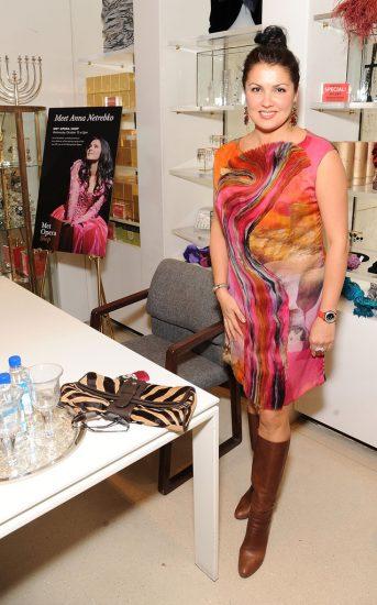 Яркое платье Анны Нетребко