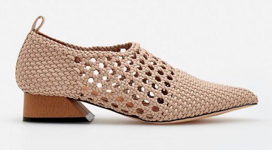 Плетёные туфли
