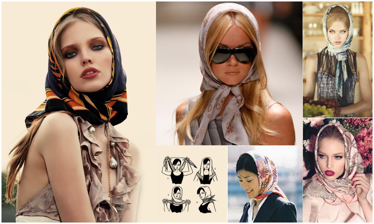 как просто завязать платок на голову