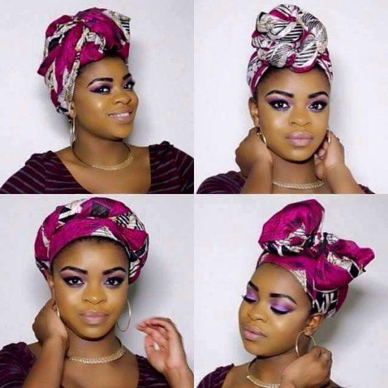 Яркий платок на голове