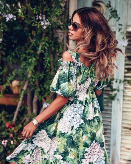 Лёгкое платье с цветочным рисунком