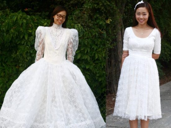 Превращение свадебного платья в обычное