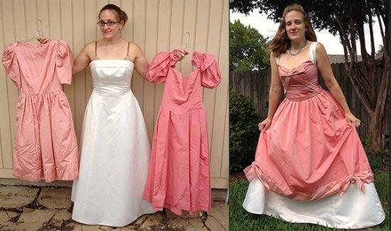 как из старых платьев сделать новое